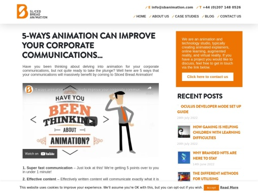 5-WAYS ANIMATION CAN IMPROVE YOUR CORPORATE COMMUNICATIONS