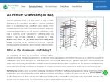 Aluminum Scaffolding in Iraq | scaffolding iraq