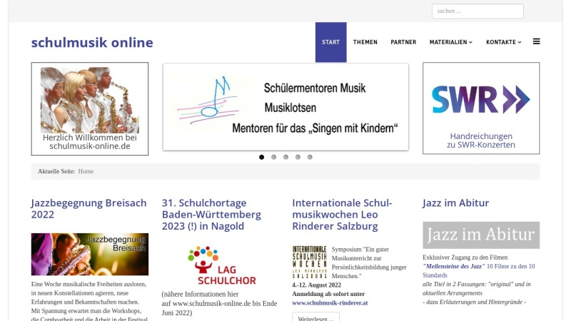 schulmusik-online.de Vorschau, Schulmusik in Baden-Württemberg