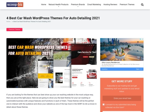Best Car Wash WordPress Themes For Auto Detailing 2021