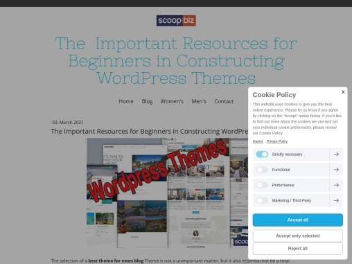 The Important Resources for Beginners in Constructing WordPress Themes