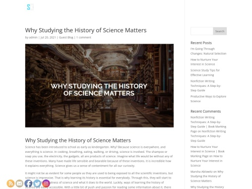 Why Studying the History of Science Matters