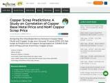 Scrap copper rates prediction from COMEX copper contracts.