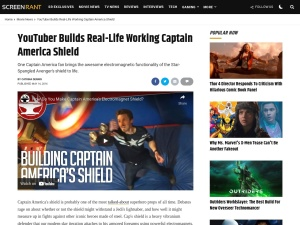 YouTuber Builds Real-Life Working Captain America Shield