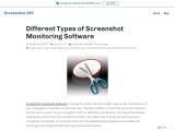 Different Types of Screenshot Monitoring Software