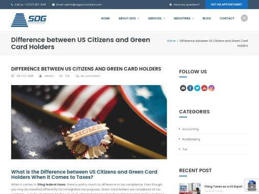 Difference between US Citizens and Green Card Holders