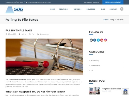 What Can Happen If You Do Not File Your Taxes?