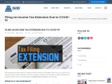 Filing an Income Tax Extension Due to COVID-19