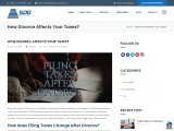 How Divorce Affects Your Taxes?