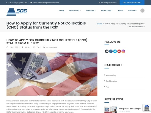 How to Apply for Currently Not Collectible (CNC) Status from the IRS?