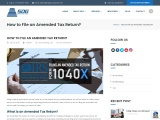 How to File an Amended Tax Return?