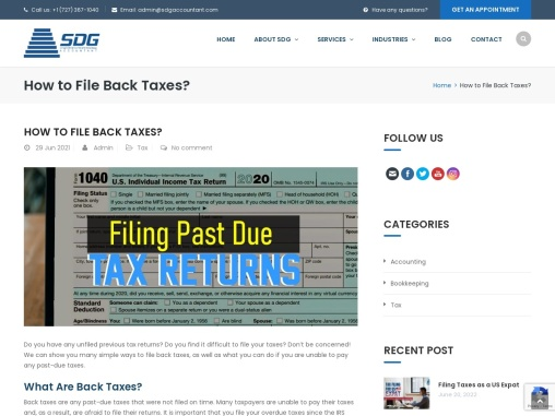 Why is it Important to File Back Taxes?