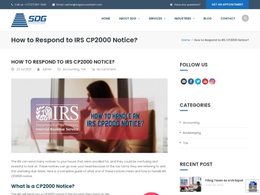 How to Respond to IRS CP2000 Notice?
