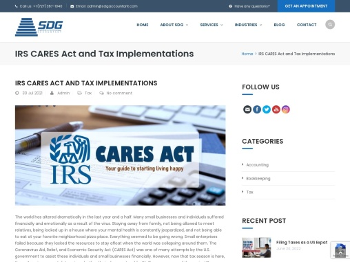 IRS CARES Act and Tax Implementations