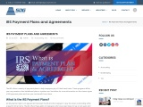 IRS Payment Plans and Agreements