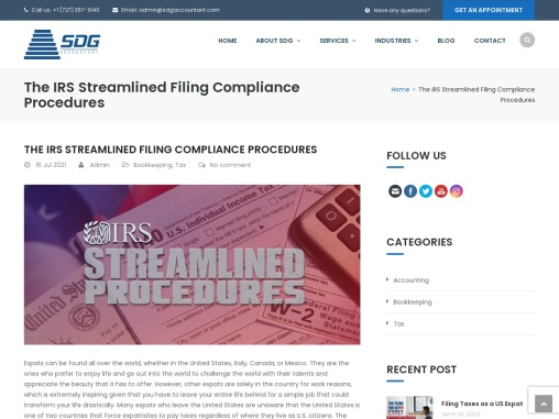The IRS Streamlined Filing Compliance Procedures