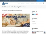 Traditional Vs. Roth IRAs: Key Differences