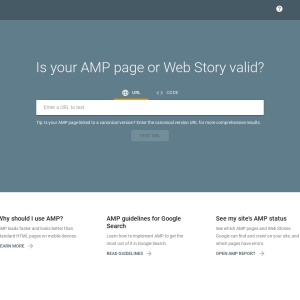 AMP Test - Google Search Console