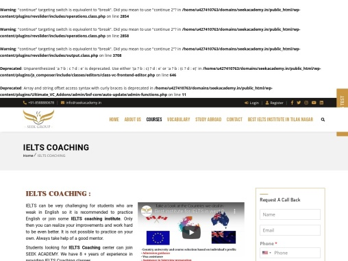 IELTS Coaching near me with fees