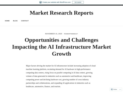 Opportunities and Challenges Impacting the AI Infrastructure Market Growth