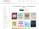Free Congratulations Cards   Custom congratulation card templates   Business Congratulations Cards