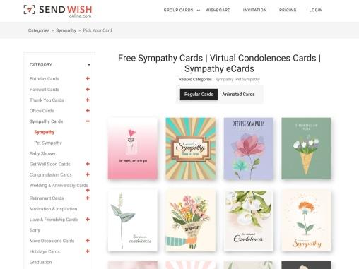 List Of Greatest Sympathy Card List
