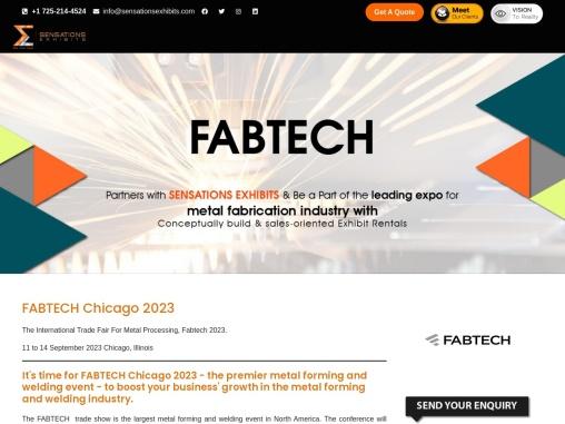 Fabtech 2021 Chicago USA Trade Show