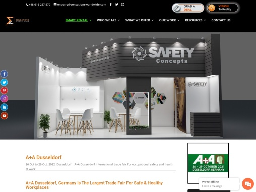 A+A Dusseldorf 2021 Trade Fair for Safe & Healthy Workplaces