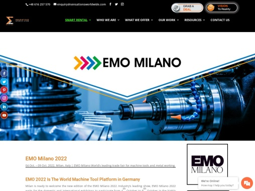 EMO Milano 2021 Trade Fair in Germany
