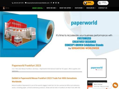 Paperworld 2022 Trade Fair in Frankfurt