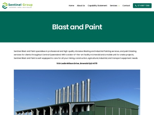 Abrasive Blast And Paint |  Sentinel Group  Engineering & Fabrication