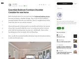 Essentials Bedroom Furniture Checklist Consider for new home