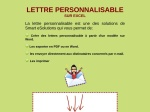 LETTRE PERSONNALISEE