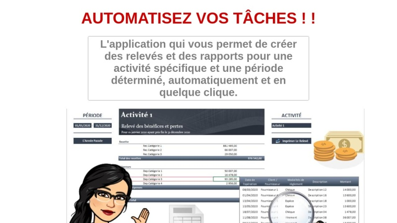 releve des benefice automatise