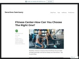 Fitness Center-How Can You Choose The Right One?