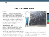 Cross Flow Cooling Towers Manufacturer & Supplier in Mumbai India