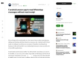 5 android unseen app to read WhatsApp messages without read receipt