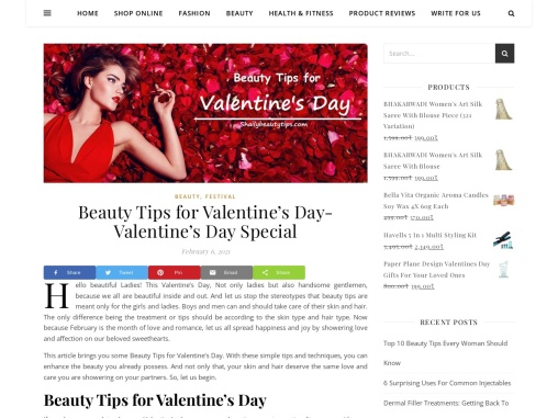 Beauty Tips for Valentine's Day