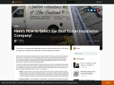 Here's How to Select the Best Gutter Installation Company!