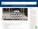 Pipes and Tubes Manufacturers in India