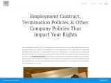 Employment Contract, Termination Policies & Other Company Policies That Impact Your Rights