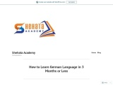 How to Learn German Language in 3 Months or Less