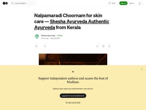 Nalpamaradi Choornam for skin care — Shesha Ayurveda Authentic Ayurveda from Kerala