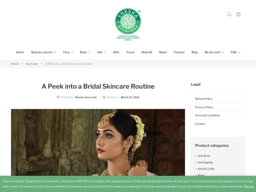 A Peek into a Bridal Skincare Routine
