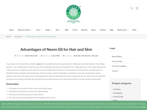 Advantages of Neem Oil for Hair and Skin