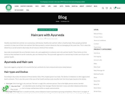 Haircare with Ayurveda – Shesha Ayurveda