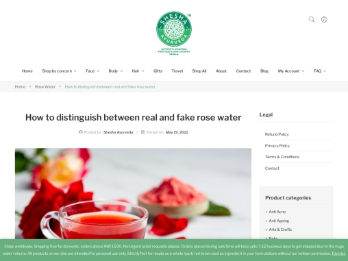 How to distinguish between real and fake rose water