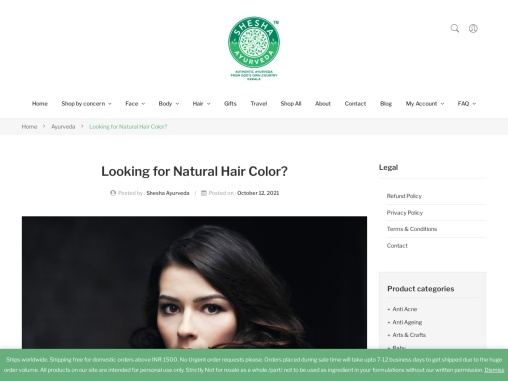 Looking for Natural Hair Color?