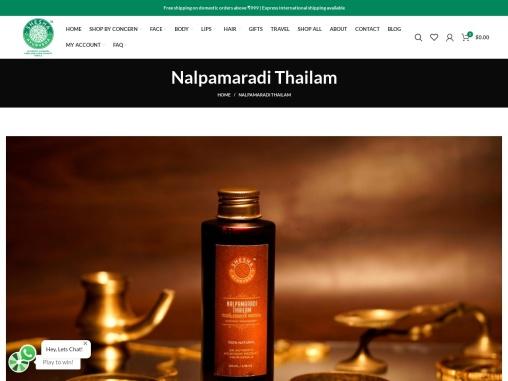 Nalpamaradi Thailam – shesha ayurveda