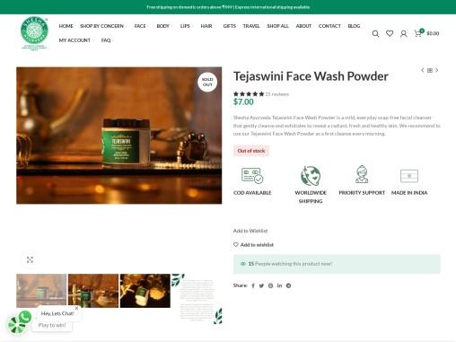 Buy Tejaswini Face Wash Powder